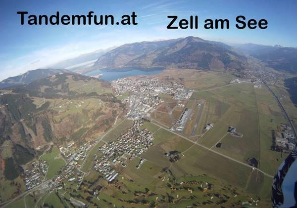 Tandem Fallschirmspringen in Zell am See in Österreich