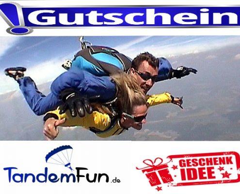 Fallschirmspringen München Geschenk Gutschein Tandemsprung
