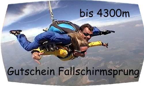 Fallschirmspringen Gutschein bis 4300m