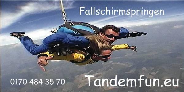 Fallschirmspringen und Tandempringen aus 6000m in Klatovy Tschechien. Hol Dir den Kick mit Edi Engl.