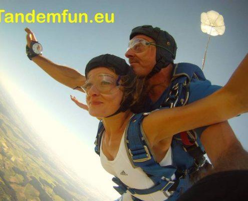 Fallschirmsprung Bayerischer Wald Bodenmais Tandemsprung