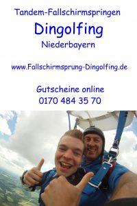 Fallschirmspringen Dingolfing Niederbayern Fallschirmsprung