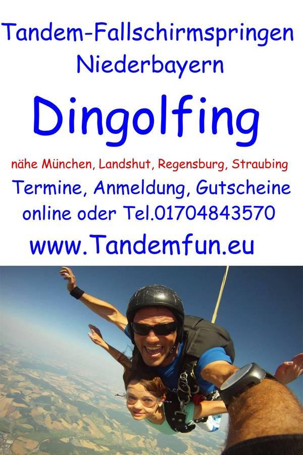 Fallschirmspringen Dingolfing Flugfest Tandemsprung Gutschein Geschenk