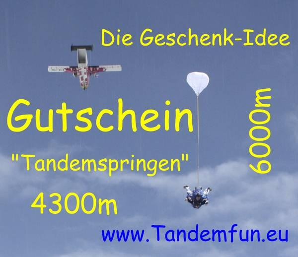 Fallschirmspringen als Geschenk Gutschein