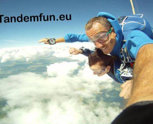 Fallschirmspringen Tandemsprung München Oberbayern mit Edi Engl