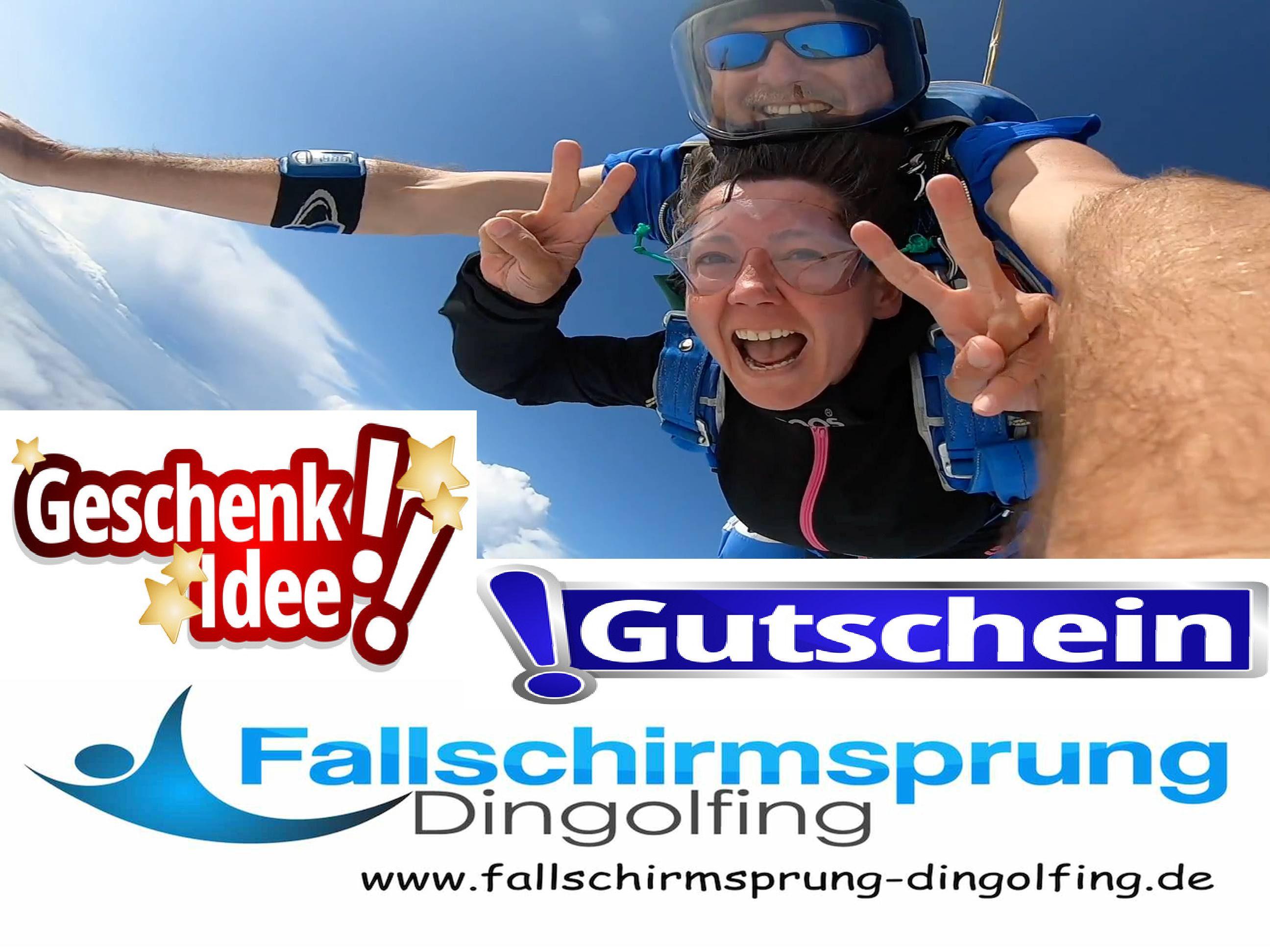 Fallschirmspringen Dingolfing Geschenk Gutschein Bayern