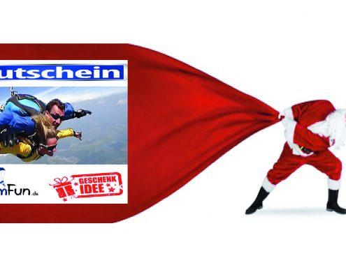 Tandemsprung Bayern Geschenk Gutschein Fallschirmsprung