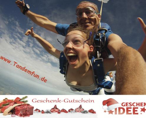 Fallschirmspringen Bayern Geschenk Gutschein Weihnachten, Geburtstag