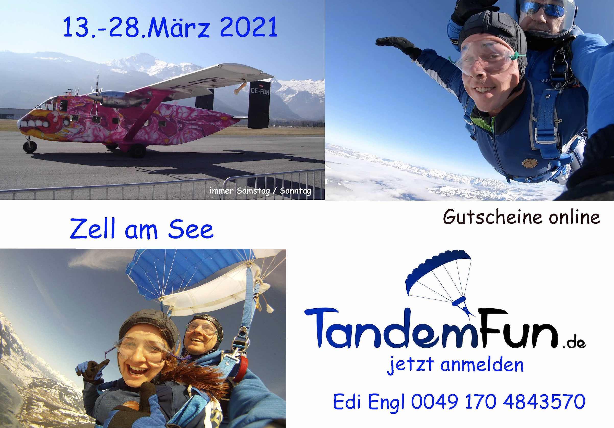 Fallschirmsprung Zell am See Event März 2021