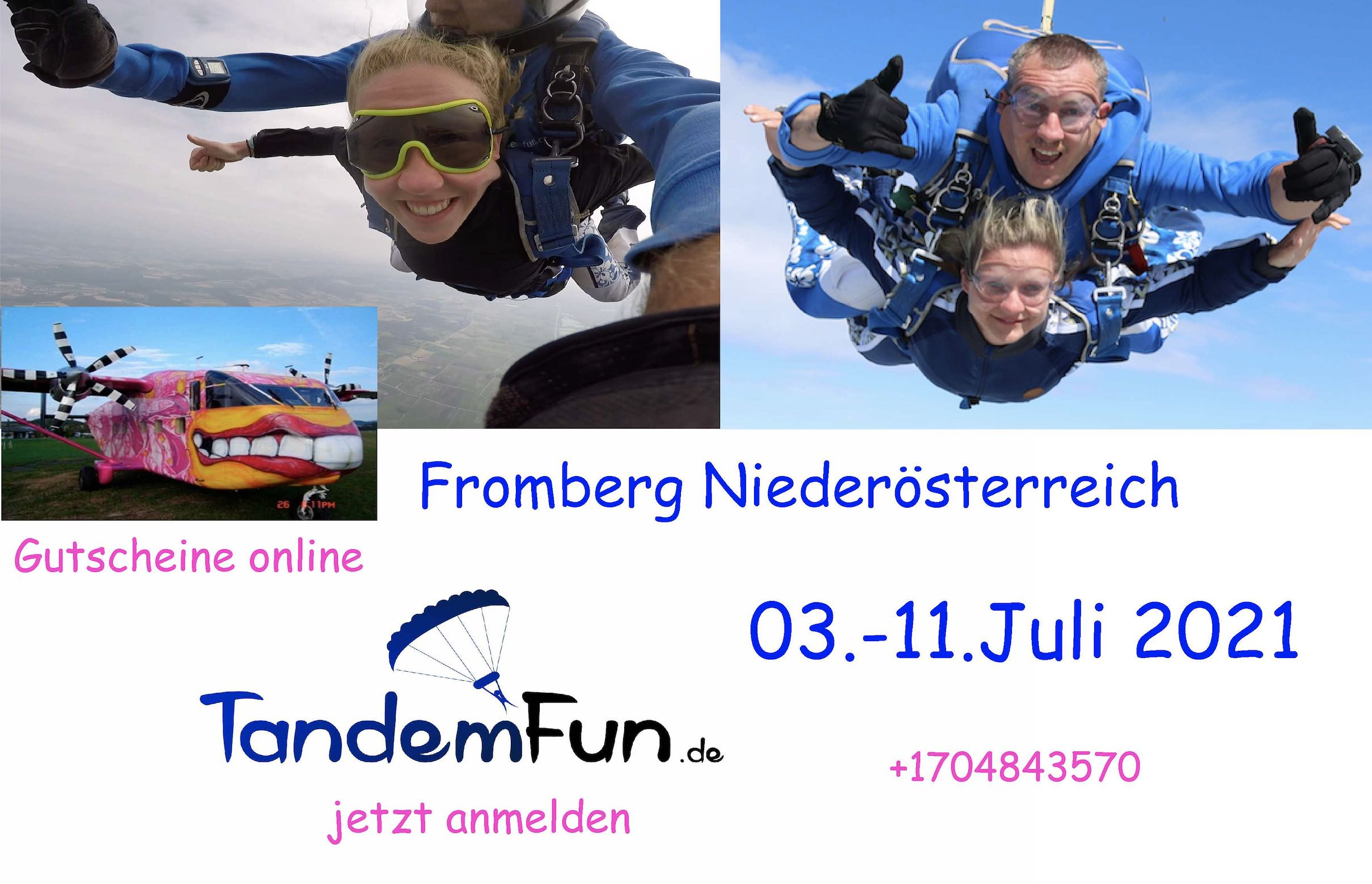 Fallschirmspringen Fromberg Juli 2021